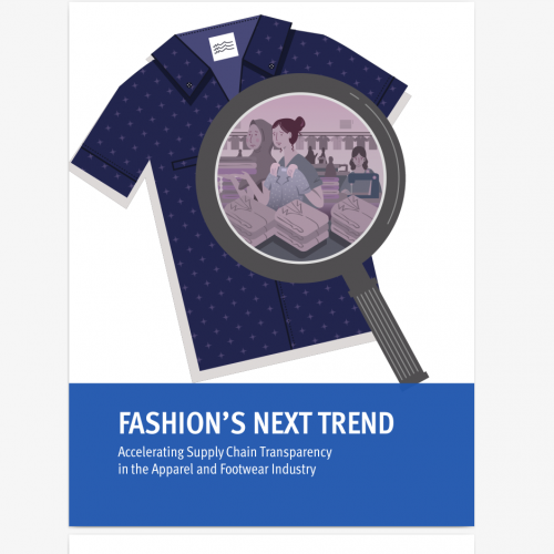 Image of report cover page Clean Clothes campaign Transparence Pledge fashion's New trend report Dec. 2019