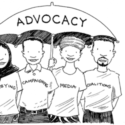 Cartoon describing advocacy