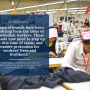 Photo with text, citation, labour rights, clothing factory, garment industry